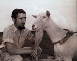B.J. Sauber and goat, 1948