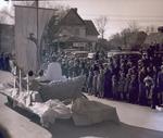 Boat float, Hobo Day parade, 1934