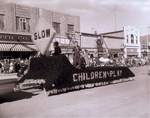 Dames Club Hobo Day parade float, 1957