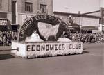 Economics Club Hobo Day parade float, 1955