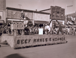 Block and Bridle Club Hobo Day parade float, 1954