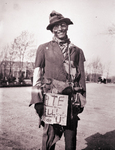 Ben Reifel dressed as a hobo, 1931