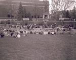 Gathering at Coolidge Sylvan Theatre at South Dakota State College, 1957
