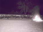 Hobo Day bonfire at South Dakota State College, 1956