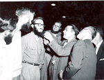 Hobo Day Beard Contest judging, 1953