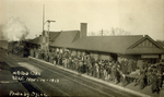 Hobo Day at the Railroad Depot, 1913