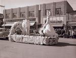 Freshman Class Hobo Day parade float, 1954