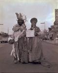 Hobo couple on Hobo Day, 1966