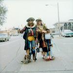 Hobo couple on Hobo Day, 1971