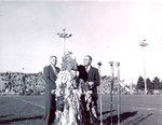 Hobo Day football game half-time at South Dakota State College, 1954