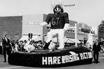 Hobo day parade float, Hare Raising Victory, 1963