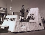 Hobo Day parade float, 4-H, 50 Years 1912-1962