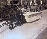 Hobo Day parade float, It's Time to Butcher the U, 1934