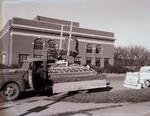 Hobo Day parade float, 1945