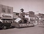 Hobo Day parade float, 1954