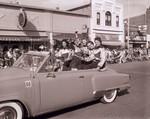 Hobo Day cheerleaders, 1956