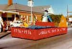 Hobo Day parade float, 1975