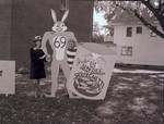 Winning Hobo Day lawn display in Brookings, South Dakota, 1968