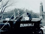 Two men in the Bummobile
