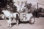 Pharmacy Hobo Day parade float, 1934
