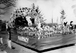 Pharmacy Hobo Day parade float, 1936