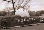 Poultry Department Hobo Day parade float, 1947