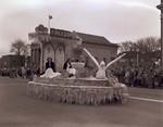 Pharmacy Hobo Day parade float, 1950