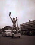 Ole, Augustana College Hobo Day parade float, 1950