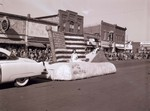 Patriotic themed Hobo Day parade float, 1953