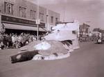 Pharmics Hobo Day parade float, 1957