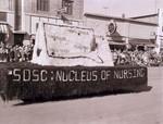 Nursing Club Hobo Day parade float, 1957