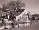 Pharmacy Hobo Day parade float, 1951