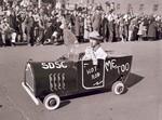 Mini hot rod in Hobo Day parade, 1952