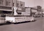 Printonian Club Hobo Day parade float, 1955