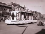 Pharmacy Hobo Day parade float, 1954