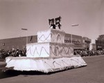 Physical Education Club and Monogram Club Hobo Day parade float, 1959
