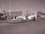 Pharmacy Hobo Day parade float, 1961