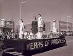 Nurses Club Hobo Day parade float, 1961