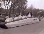 Pharmacy Hobo Day parade float, 1962