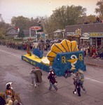 Pharmacy Hobo Day parade float, 1971