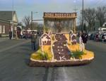 SDSU Rodeo Club Hobo Day parade float, 1977