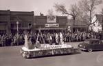 Pharmacy Hobo Day parade float, 1948