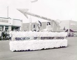 Society of Different Arrows Hobo Day parade float, 1958