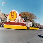 Pharmacy Hobo Day parade float, 1967
