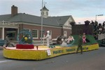 Pharmacy Hobo Day parade float, 1969