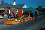 Pharmacy Hobo Day parade float, 1972