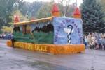 Pharmacy Hobo Day parade float, 1984