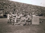 State College cheerleaders, 1950