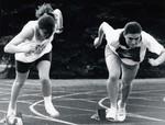 South Dakota State University 1991 women's track and field athletes, Ruth Raak and Rana Schoorman