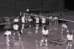 South Dakota State University 1992 volleyball team during a game